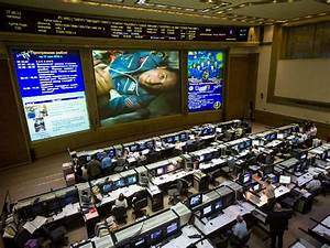 NASA - Astronaut Acaba on Screen in Russian Mission Control