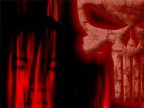 Red Punisher Skull Logo