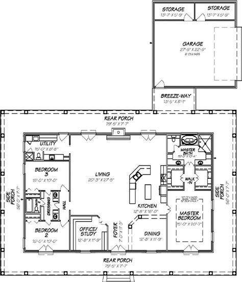 1 Story Open Floor Plans by Country Style House Plans 2560 Square Foot Home 1