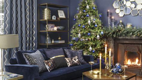 midnight blue christmas home decorating theme