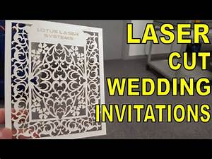 Laser cut wedding invitations and greeting cards youtube for Laser cut wedding invitations youtube