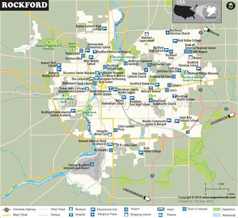 rockford map rockford illinois map