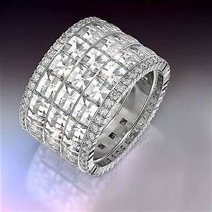 Blaze And Pave Wide Wedding Band