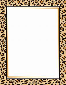 Zebra Print Border Template - Cliparts.co