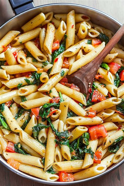 shrimp pasta recipe with tomato and spinach eatwell101