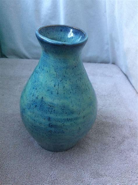 amaco glaze ceramic vase glazed with 3x thick of amaco textured