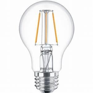 Led Lampen Philips : philips classic ledbulb 4 40w 827 e27 clear philips led lampen led lampen budgetlight ~ Orissabook.com Haus und Dekorationen