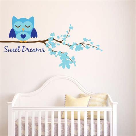 boy sweet dreams owl wall decal wall decal world