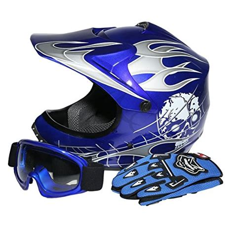 motocross helmets for kids tcmt dot youth kids motocross offroad street helmet blue
