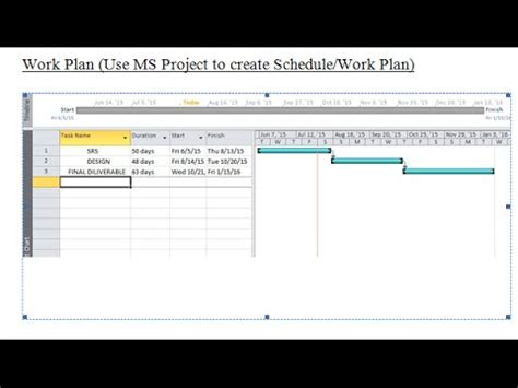 work plan  ms excel youtube