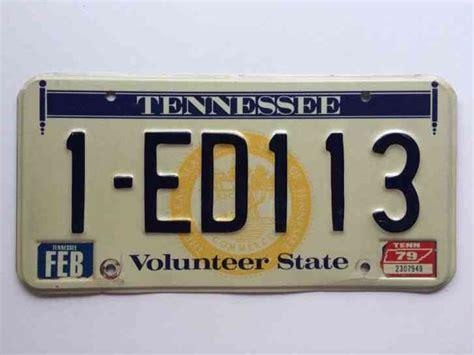 Tennessee 1979 Sticker License Plate Garage Old Car Auto