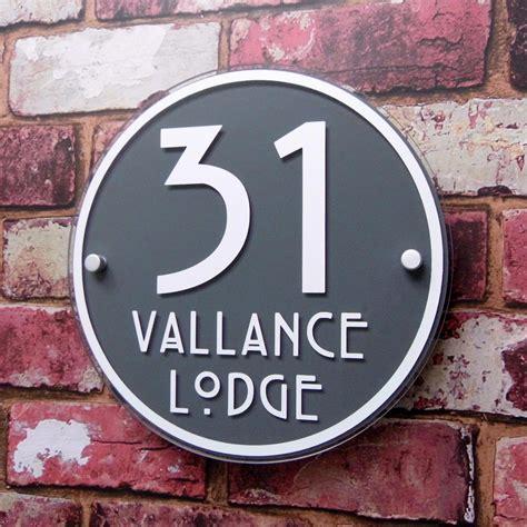 house number sign address plaque modern glass effect