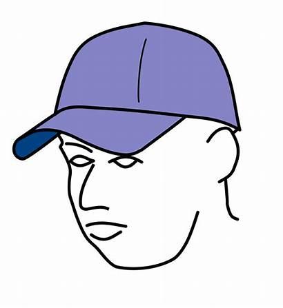 Cap Baseball Drawing Line Caps Keps Gorra