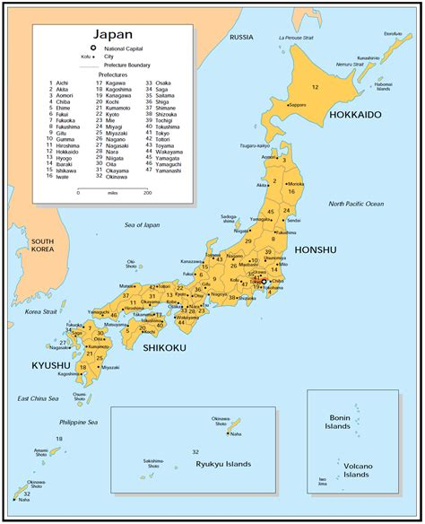 cities  japan map mapsofnet