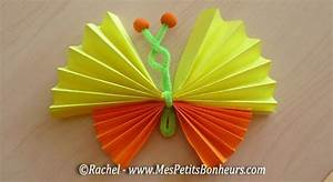 Bricolage Papier Crepon : butterfly paper and pipe cleaners diy easy spring kids crafts diy and fun things to do ~ Mglfilm.com Idées de Décoration