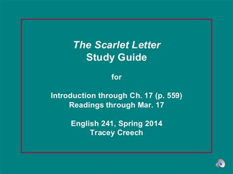 the scarlet letter study guide timeless the scarlet letter study guide intro to ch 17 73186