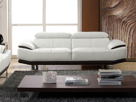 canap cuir blanc 3 places canapé cuir 3 places bicolore osmoz
