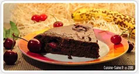 recette sans gluten fondant au chocolat cerise tout l 233 ger cuisine saine sans gluten