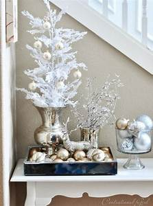 25+ best ideas about Silver christmas decorations on
