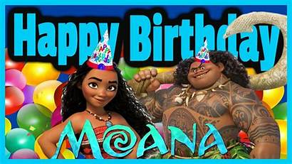 Moana Birthday Happy Disney