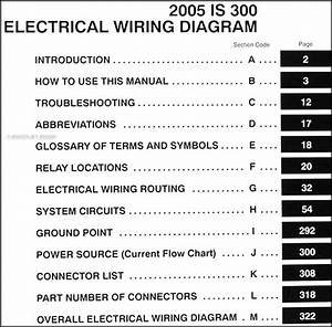 2005 Lexus Is 300 Wiring Diagram Manual Original
