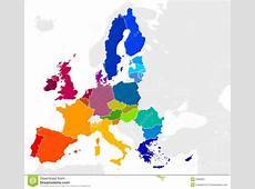 European Union Map stock vector Illustration of currency