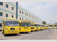 Transpotation Bus in The New INdian Model School Dubai