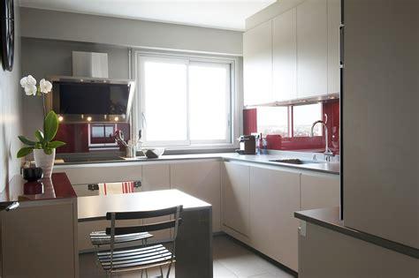 cuisine verre laqué et taupe arlinea architecture