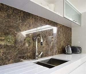 Cuisine En Marbre : cuisine cr dence moderne fonc e en marbre ~ Melissatoandfro.com Idées de Décoration