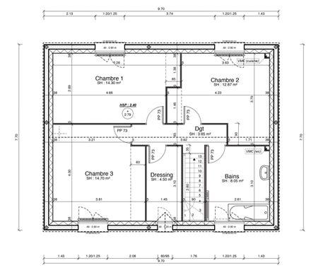 plan de maison 120m2 4 chambres plan maison 120 m2 modle plan de maison 120m2 plan