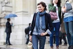 Ines de la Fressange in jacket and scarf - little luxury list