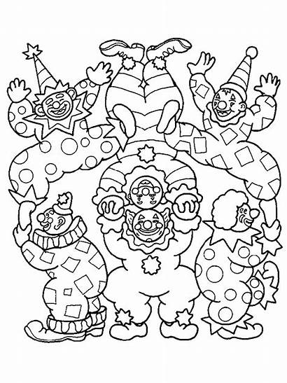 Coloring Pages Clown Circus Scary Printable Clowns