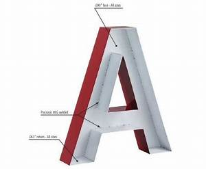 large fabricated aluminum sign letters designed for With fabricated channel letters