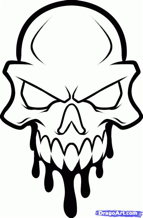 draw  skull head skull head tattoo step  step