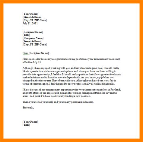 microsoft word letter  resignation template