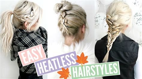 3 Quick & Easy Heatless Hairstyles For Fall