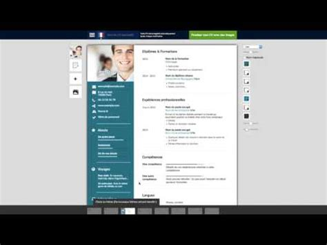 Resume Creation Pdf by Comment Cr 233 Er Mon Cv Outil Gratuit De Cr 233 Ation De Cv