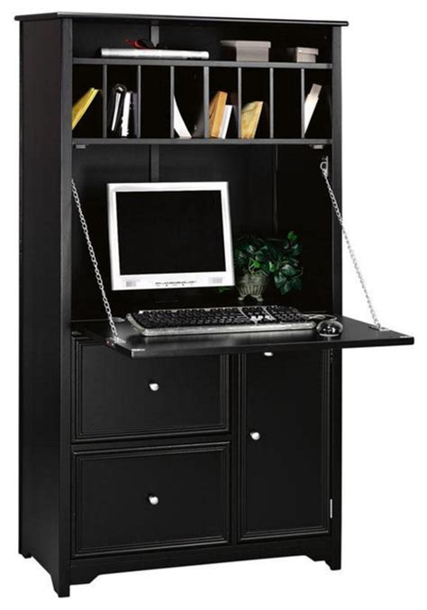 how tall is a desk oxford tall secretary desk black transitional desks