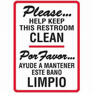 cleanliness quotes for bathroom quotesgram With keep clean bathroom signs