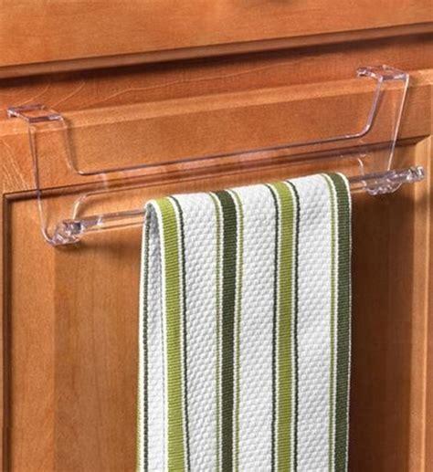kitchen cabinet towel bar over cabinet door towel bar clear in kitchen towel holders