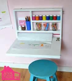 creative diy wall art desk for kids