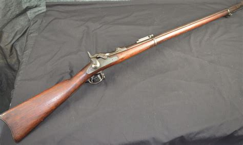 lot detail springfield model  trapdoor rifle