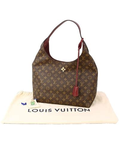 louis vuitton flower hobo monogram brown tote bag shoulder