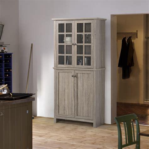 storage cabinet   glass doors kitchen dining room