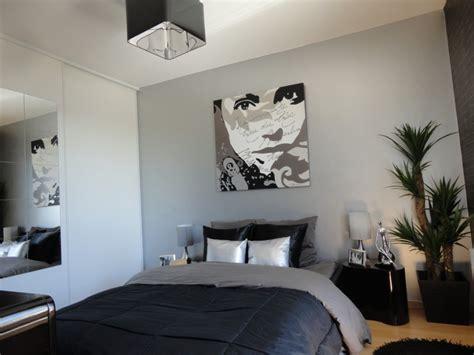 chambre noir gris davaus rideaux chambre à coucher et noir