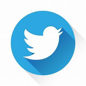 13 Flat Round Twitter Icons Images - Twitter Icon, Round ...