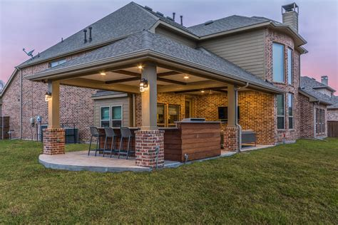 Outdoor Patio Covers by Patio Cover And Outdoor Kitchen In Coppell Custom