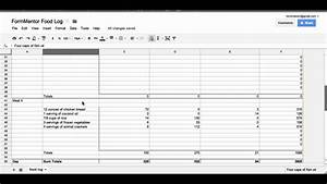 tracking calories macros with google docs youtube With google docs spreadsheet macros
