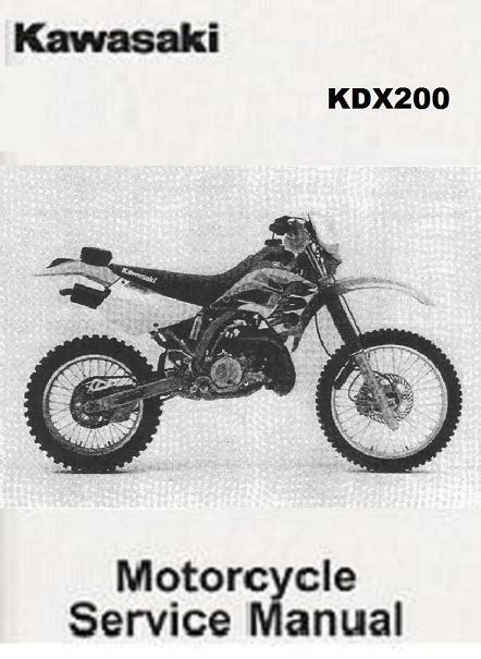1989 1994 kawasaki kdx 200 service repair workshop manual download 1989 1994 kawasaki kdx200 service manual