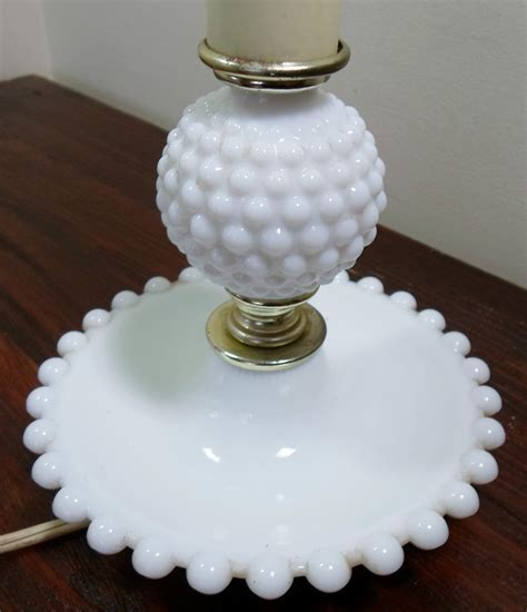vintage white hobnail milk glass l vintage fenton white milk glass hobnail boudoir beaded